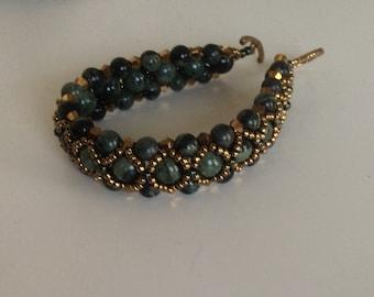 Kambaba Jasper Crossover Beaded Bracelet