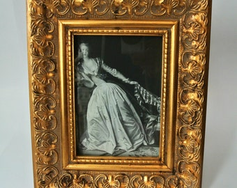 Large Gilded Wooden Frame with Glass-Renaissance/Hollywood Regency/Baroque Style