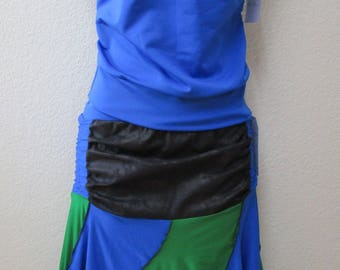 deep blue, green and black color ruffled edge with gathering elastic decoration and made from U.S.A.(VN3)