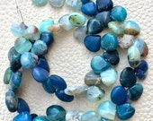 Brand New, Full 9 Inch Strand, PERUVIAN MULTI OPAL Smooth Heart Briolettes,8-9mm,Amazing Quality at Low Price,Superb