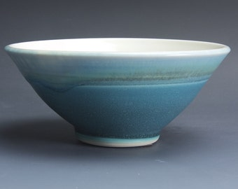 Handmade porcelain turquoise soup cereal rice ice cream bowl 2 cup 3776