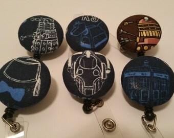 Doctor Who badge reels