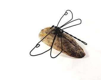 Dragonfly Wire Sculpture, Dragonfly Wire Art, Minimal Wire Sculpture, 517679637