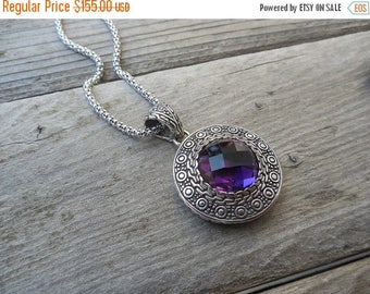 ON SALE Magnificent amethyst necklace handmade in sterling silver