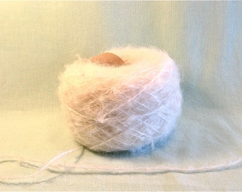 2 for 1 Raw White Mohair Yarn 100 grams