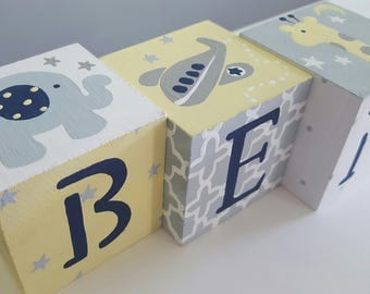 Personalized Baby Name Blocks- SWEET AND STARRY Theme