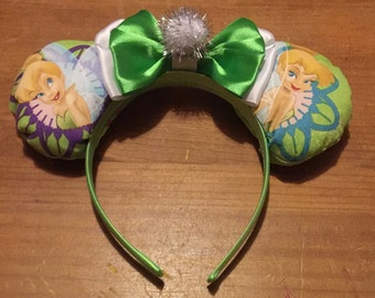 Tinkerbell inspired Mickey/Minnie Disney ears
