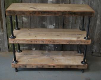 Rustic Reclaimed Wood shelves  (3 shelves)
