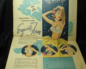 1951 Exquisite Form Brassieres The Hecht Company Advertisement.