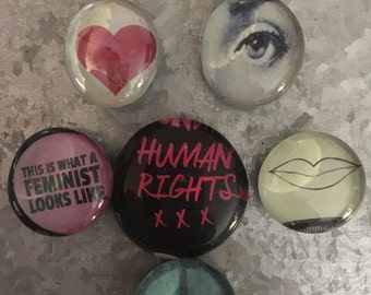 This is what Feminism looks like set of six Glass Magnets
