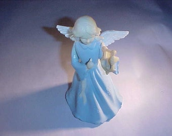 Art Plastics Blue Angel Christmas Tree Topper or Ornament