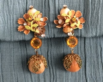 Retro Earrings and Broach