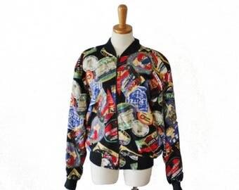 60% off sale // Vintage 80s Travel Ciity Designs Jacket Coat  - Women Large - Patina International, rayon