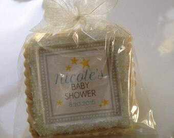 custom cookie favors twinkle star