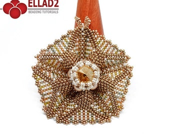 Tutorial Vega Beaded Star - Beadwoven Star tutorial, Beading Tutorial, Ellad2