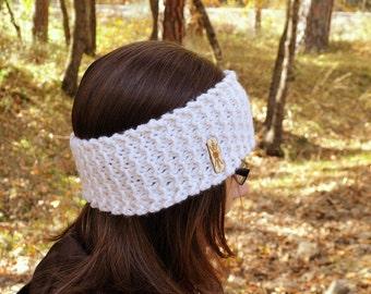 Knit Ear Warmer Headband - Chunky Winter Headband - Waffle Stitch - More Custom Color Options