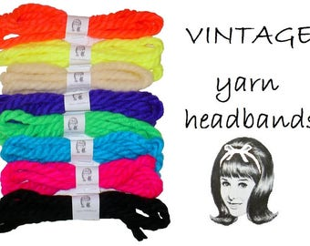 Yarn Headbands, Vintage, Choose Your Favorites