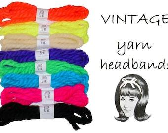 Yarn Headbands, Vintage, Choose Your Favorites