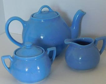 Blue Lipton Tea Set Creamer and Sugar bowl