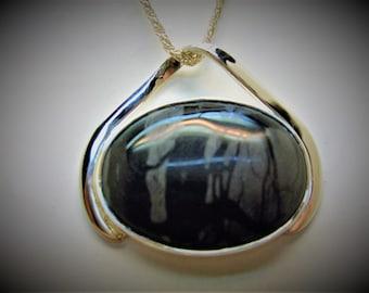 Picaso Jasper Pendant silver jasper