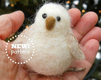 HAND-MADE. A Needle Felted Woodland Baby Owl Ornament for You. Great Gift Idea!