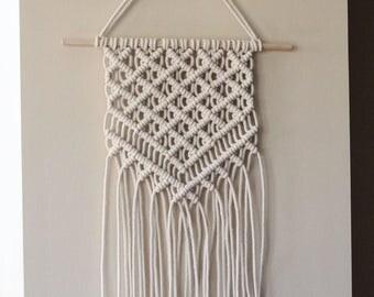 Lattice Pattern Macrame Wall Hanging