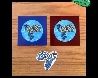 Cuttlefish Bundle (2 mini prints + sticker)