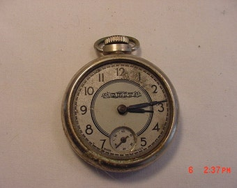 Vintage Grit Pocket Watch With Second Hand  17 - 86