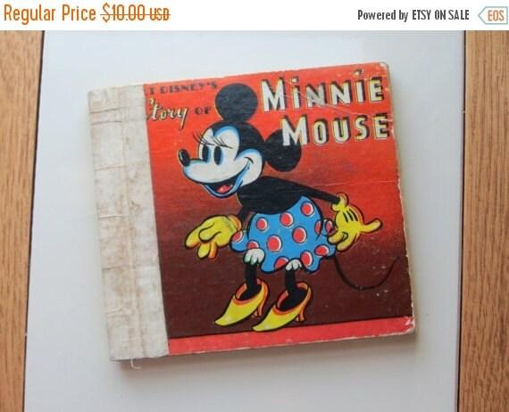 ON SALE Vintage Minnie Mouse Book-Disney-1938-Whitman