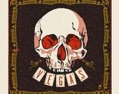 Vegas Skull silkscreen