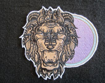 Leo The Lion Embroidered Iron On Patch, Iron On Patch, Iron On Applique, Leo The Lion, Zodiac Patch, Horoscope Patch, Leo, Lion