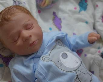 Reborn baby preemie boy, preemie, life like baby doll, OOAK small preemie, OOAK baby reborn boy, preemie boy, Preemie, baby boy, baby boy LE