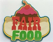 Fari food title premade paper piecing 3d die cut for scrapbooks cards planner project life by my tear bears kira