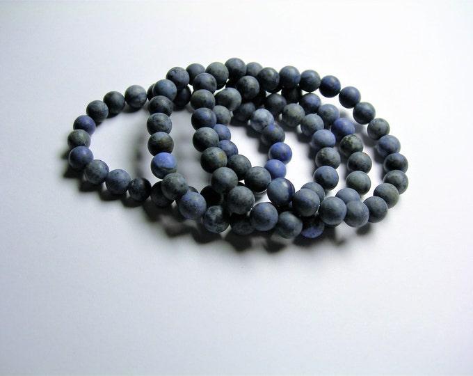 Dumortierite - 1 set - 8mm - matte - 23 beads - A quality  - HSG26