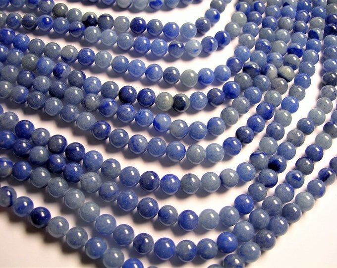 Aventurine - blue aventurine - 8mm round beads -1 full strand - 48 beads - A quality - RFG1217