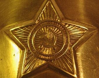 Soviet Army Brass Dress Belt buckle SICKLE AND HAMMER