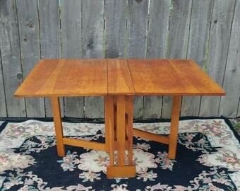 Mission Style Drop Leaf Table