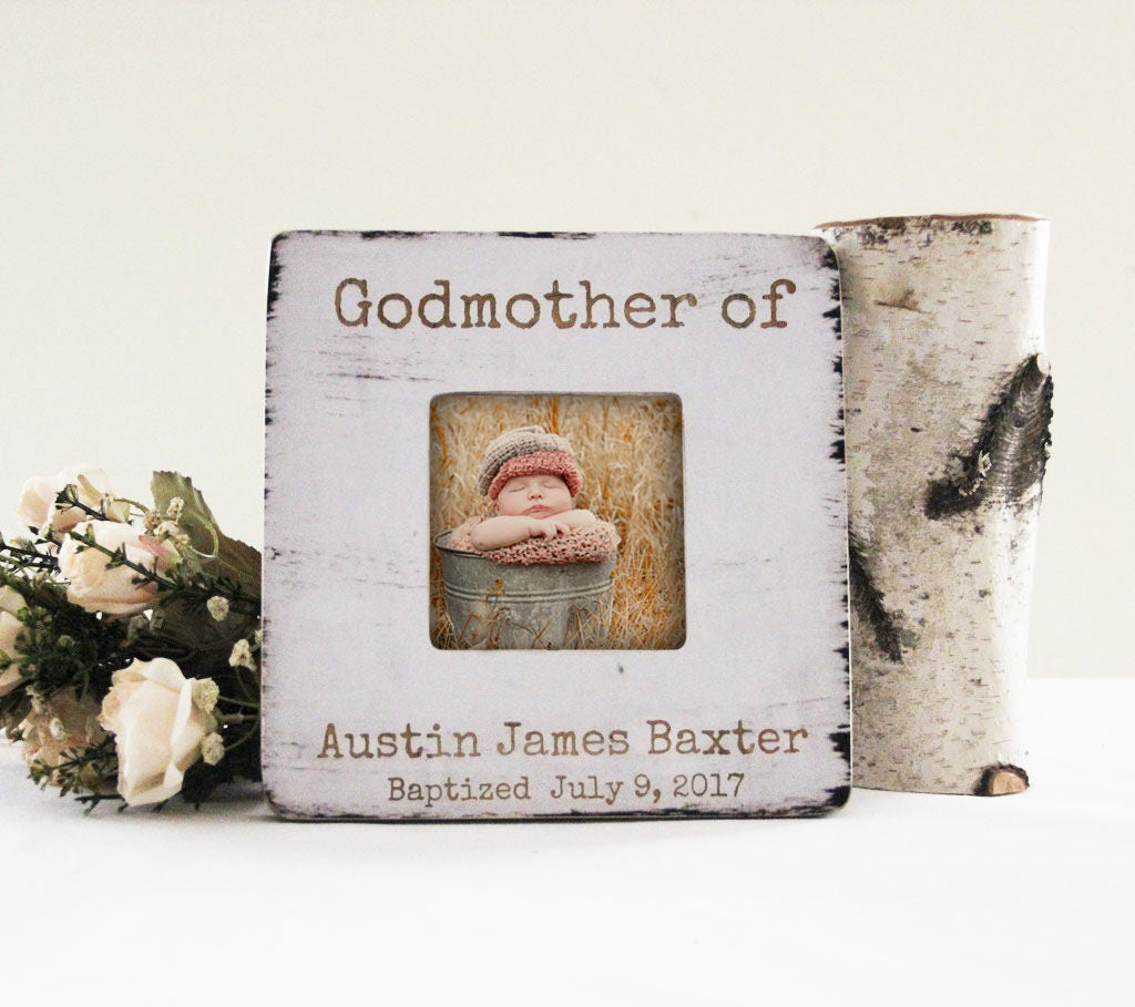Godmother Picture Frame Personalized Baptism Picture Frame