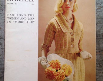 Vintage 1961 Bernat Yarn Knitting Pattern Book 94
