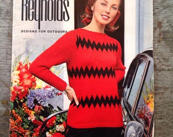 Vintage 1960's Reynolds Yarn Knitting Pattern Book Volume 46