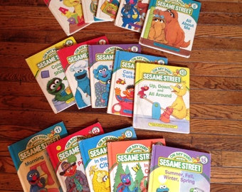Vintage On My Way With Sesame Street Books Volumes 1-15