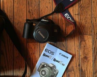 Vintage Canon EOS Rebel G Camera Zoom Lens EF 35 - 80 MM