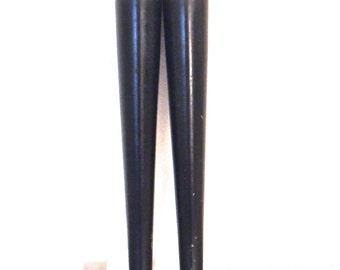 vintage black mid century furniture legs set of 2