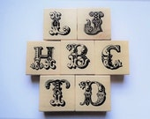 Reserved - Flourish Alphabet Rubber Stamps Monogram Letters Initials