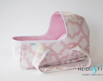 Doll baby carrier SMALL - doll bassinet crib bunting bag baby basket Ready to ship