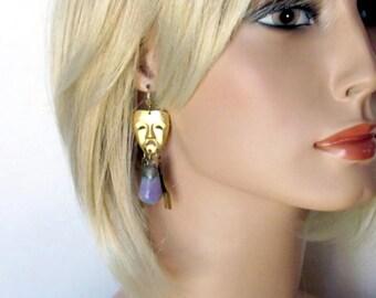 WAAAAH EGGPLANT Unusual earrings vegetable jewelry food jewelry unique jewelry gift for gardener jewelry garden earrings