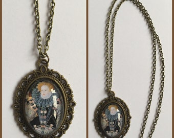 Elizabeth I Inspired Cameo Necklace