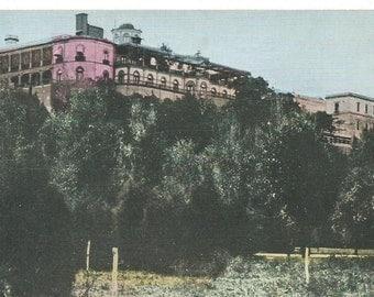 Vintage 1900's Tinted Photo Postcard, Castle of Chapultepec, Mexico City