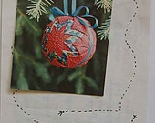 RARE Vintage 80s Folded Star Ball Ornament Craft Pattern by Designs from the Haybarn, Christmas, Holiday