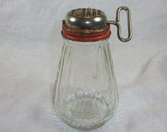 Vintage Metal and Glass Nut Chopper Nut Grinder Nice Glass with Key Crank
